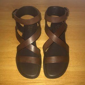 NWOB Franco Sarto Gwenyth Brown Sandal 8.5